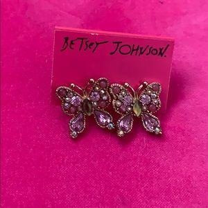 Betsey Johnson butterfly earrings ! Never worn
